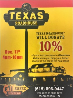 Texas Roadhouse Dine to Donate