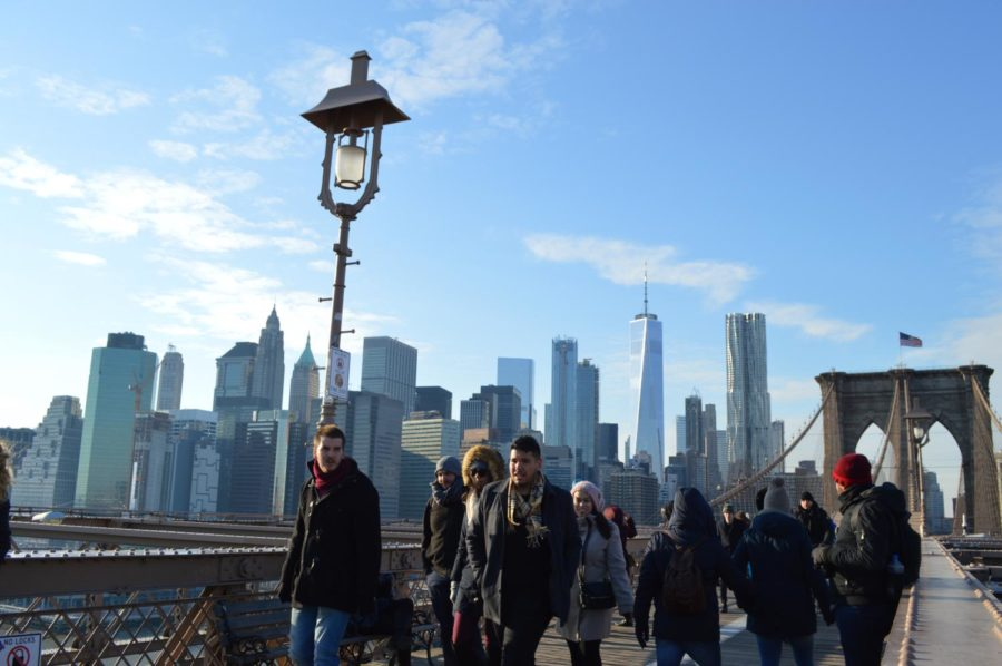 Day Two: The Brooklyn Bridge and the city in the same picture? wow.