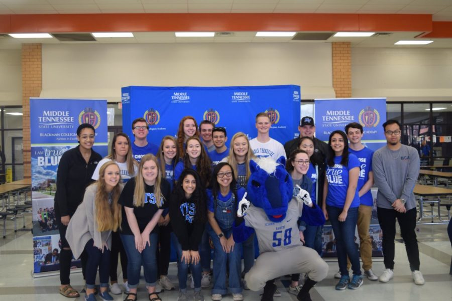 All+MTSU+signees+celebrating+their+academic+accomplishment.+