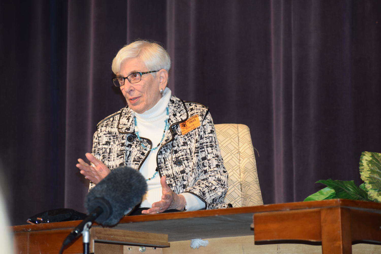 Blackman High School had a great opportunity to have a Holocaust survivor, Esther (then Rosenfeld) Starobin, speak to their students about the journey through her life.