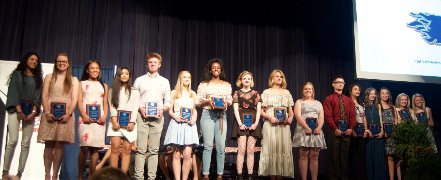 The Class of 2018 Valedictorians are: RIja Asim, Mikayla Barkley, Lauren Bass, Jelena Blanco, Griffin Collins, Hannah Dean, Paz Dozie-Nnamah, Madison Fabber, Katie Hartman, Jaida Hunt, Brooklyn Hopkins, Nathan Jenkins, Madonna Kozman, Rebecca Nelson, Sara O'Brien, Morgan Tincher, and Kenzi Vetter.