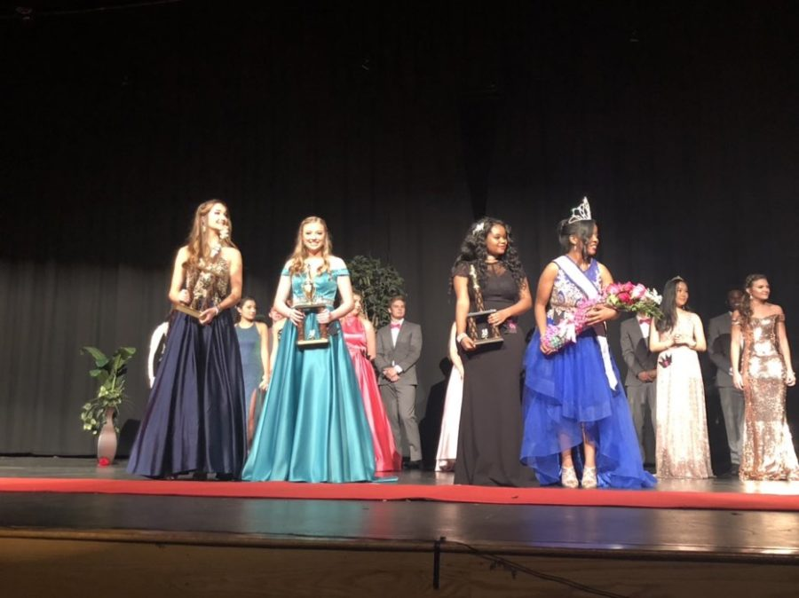 Congratulations to the girls who placed at the pageant: Ainsley, Kylie, Gascony, and Iranessa who is Miss BHS 2018!