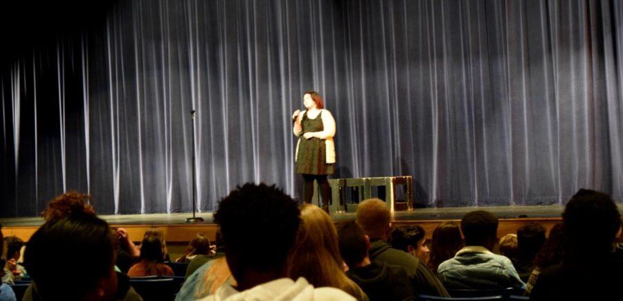 Emma Knake, senior, singing her solo.