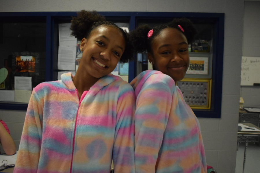 Kayla Davis and Jaibrianna Bryant, Sophomores.