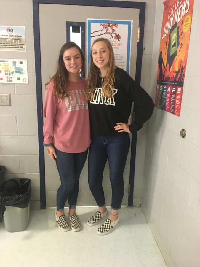 Blackman Voice Staff members, Lexi Mccutcheon and Ava Palmer, Sophomores.