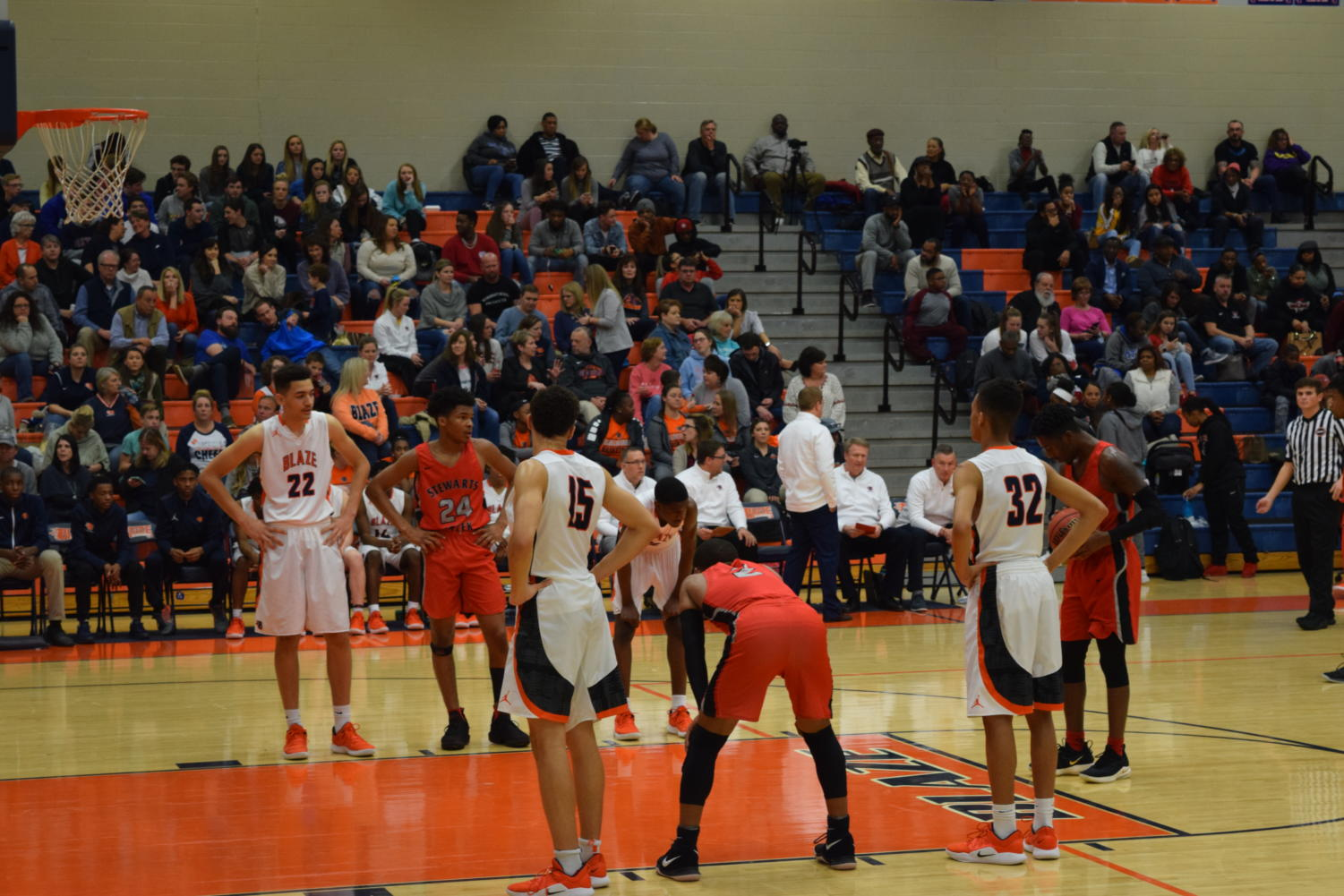 Blackman Basketball team in action.