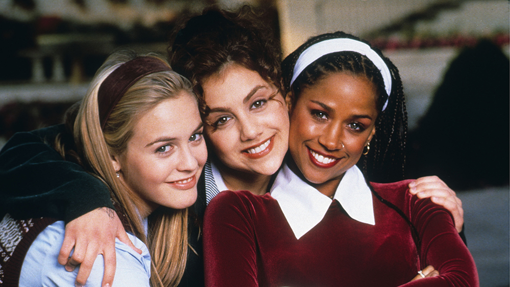Editorial use only. No book cover usage. Mandatory Credit: Photo by Paramount/Kobal/REX/Shutterstock (5883440x) Alicia Silverstone, Brittany Murphy, Stacey Dash Clueless - 1995 Director: Amy Heckerling Paramount USA Film Portrait Jane Austen