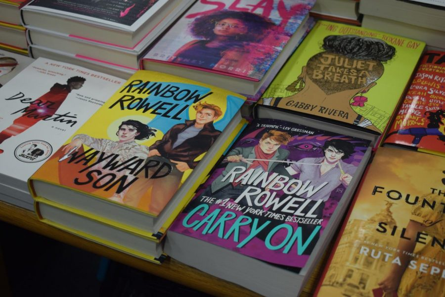 Novels written by Rainbow Rowell are available and in high demand.