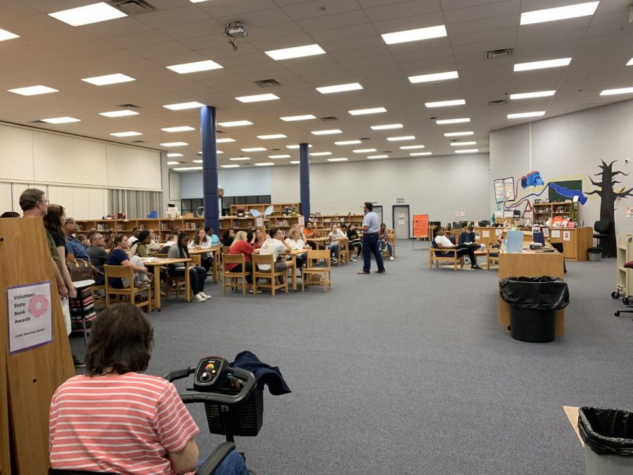 In the library, representatives from MTSU spoke to parents and students about the admissions process, specifically, to MTSU.