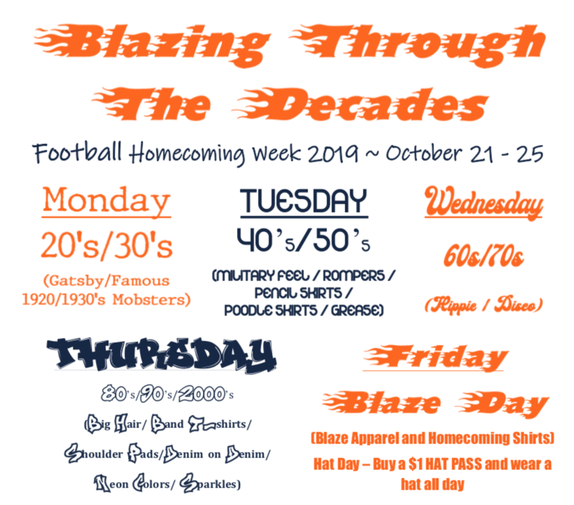 The+themes+for+homecoming+week.
