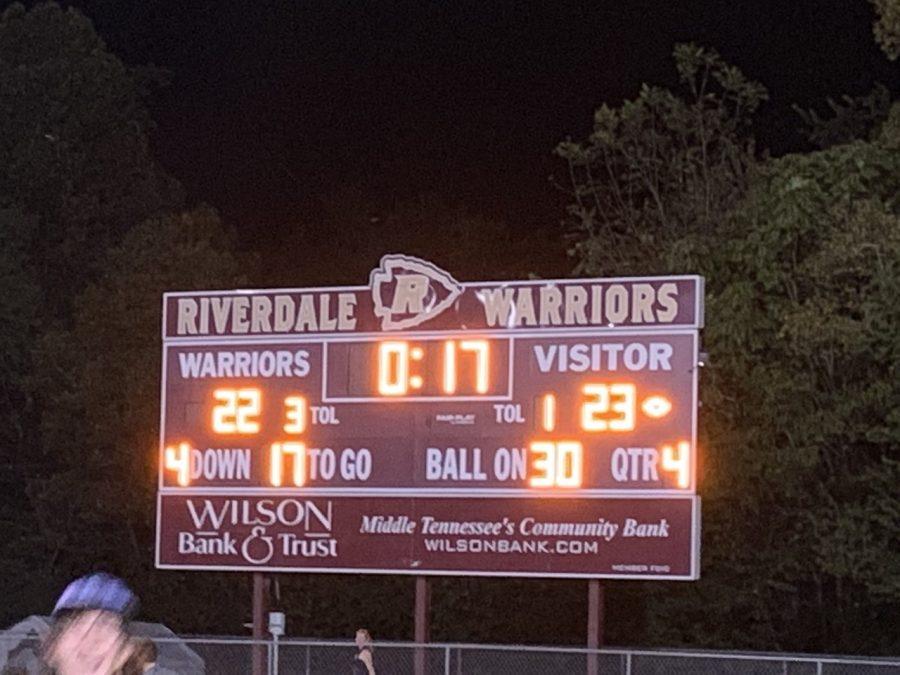 Blackman versus Riverdale Scoreboard