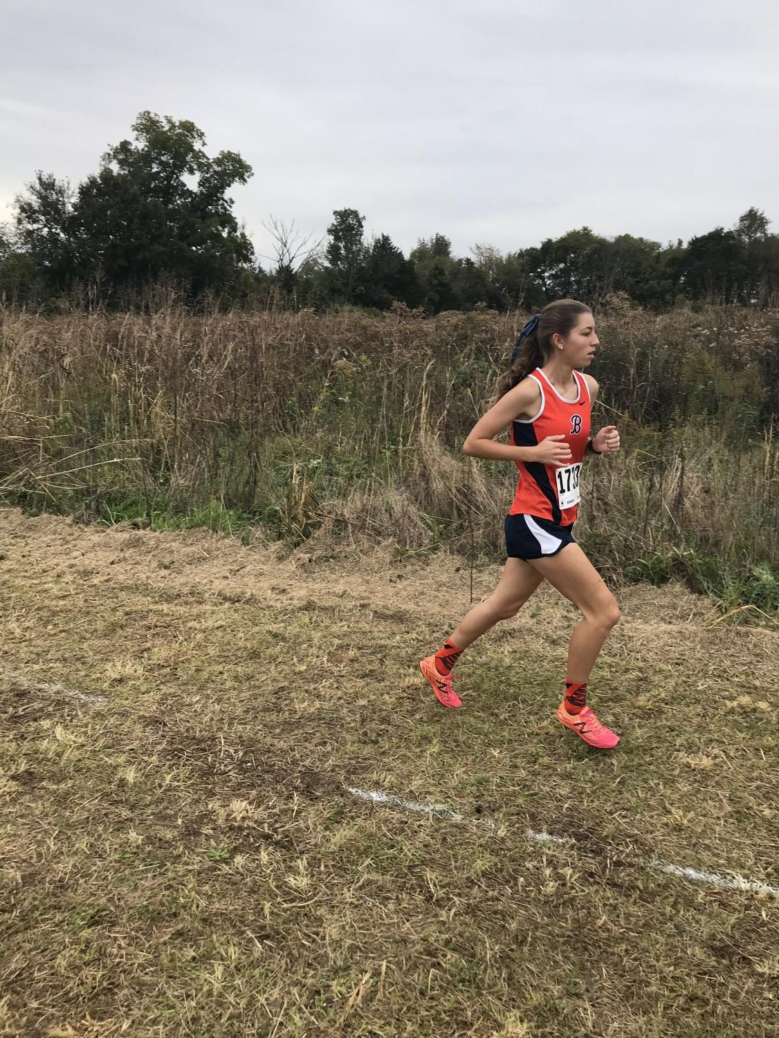 Megan Roth, senior, running in Cookeville.