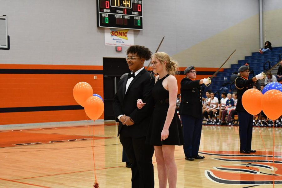 Senior homecoming court: Malachi King and Kyleigh Mitchell