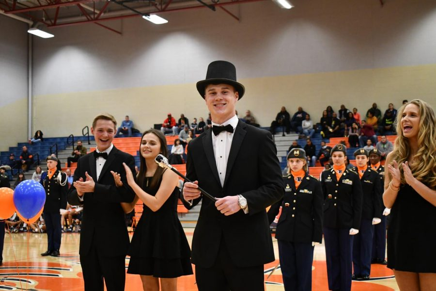 Conner Murphy was announced the two-thousand twenty basketball homecoming king!