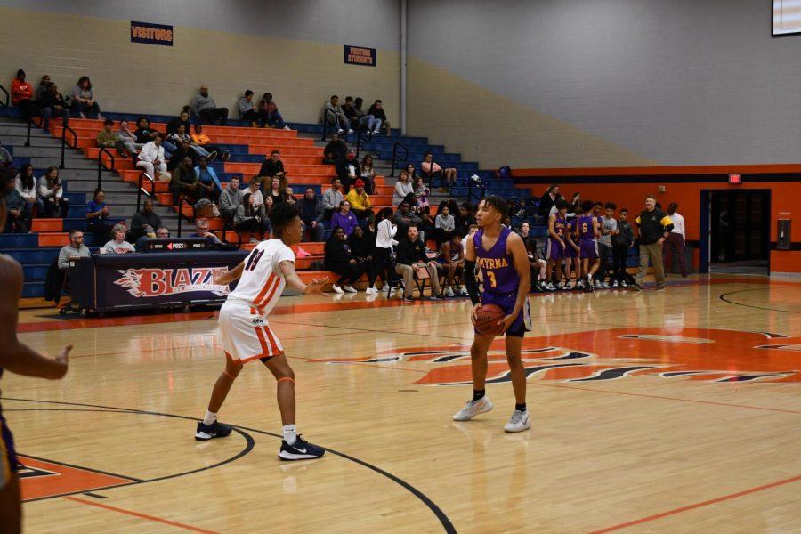 Benton-Hamilton plays defense.