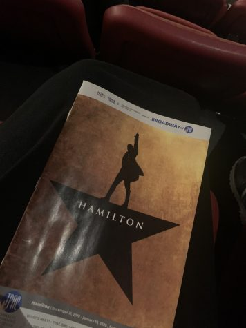 Playbill from Hamilton.