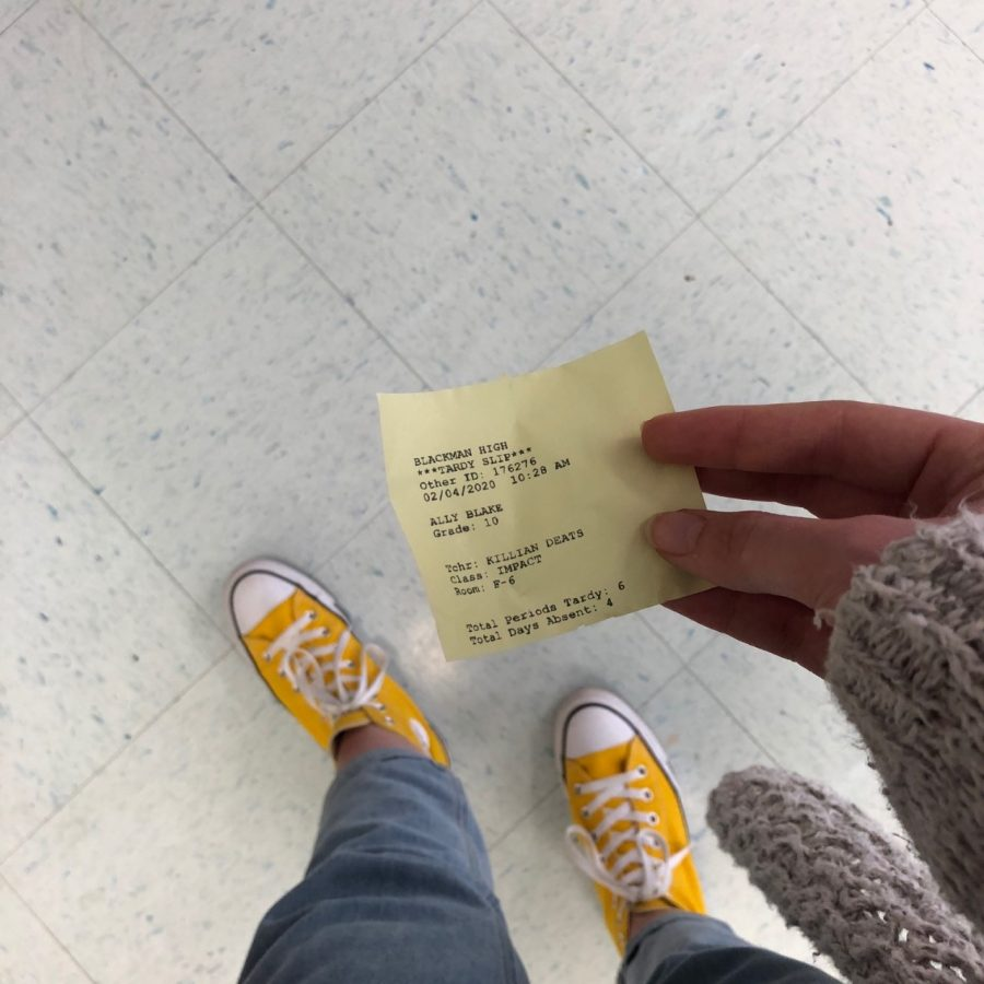 Image of the new tardy slips
