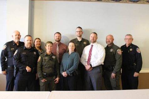 Officer Reed is among twelve other deputies who won Officer of the Month.