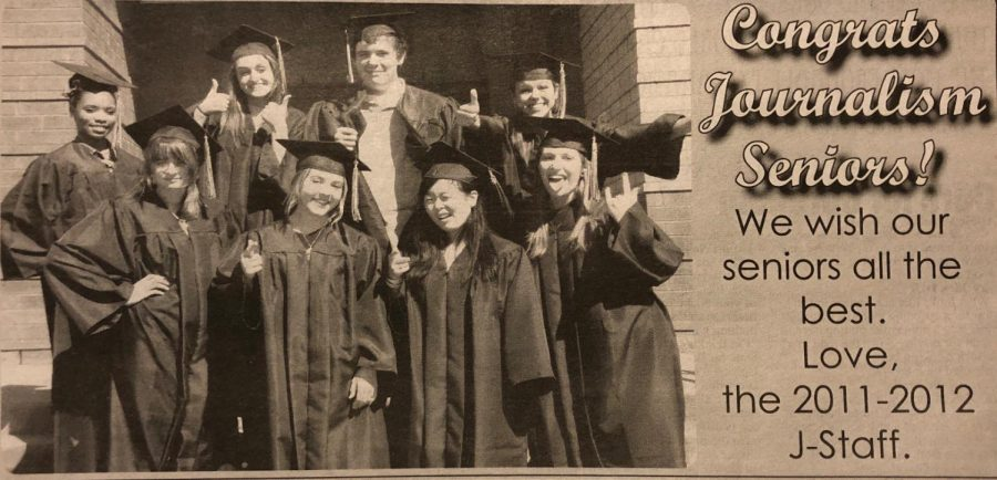 Caitlyn Parris as a BHS senior in the bottom row second from the left.