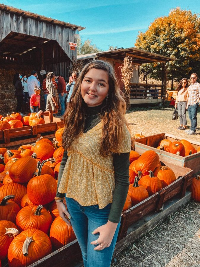 Maddy Williams at the pumpkin patch.