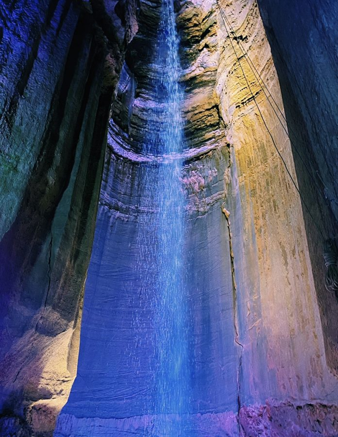 Ruby Falls is a beautiful underground waterfall in Chattanooga.