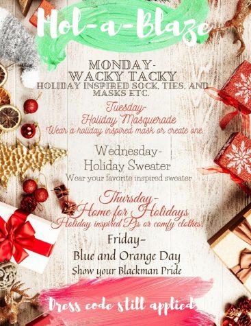 HOL-A-BLAZE Week schedule