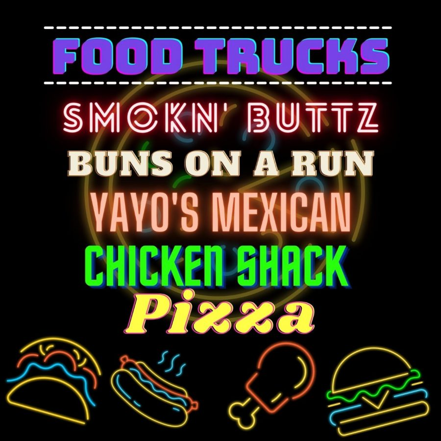 The food trucks that will be at Blackman on Friday!