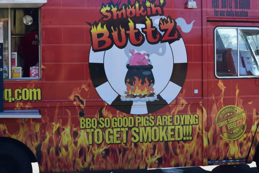 One of the food trucks at BHS for Basketball Homecoming.