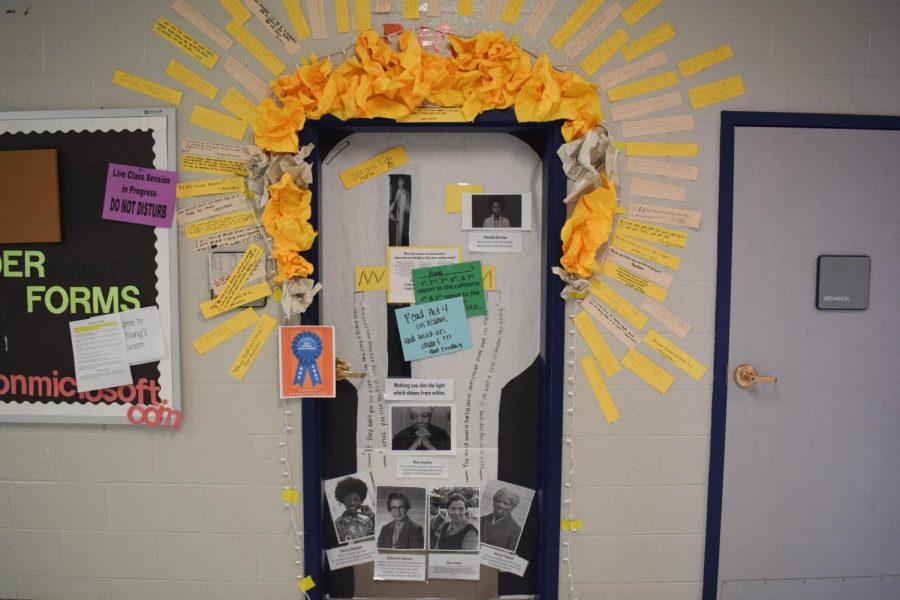 Madeline Young's Light Bulb door won Best Student Involvement.