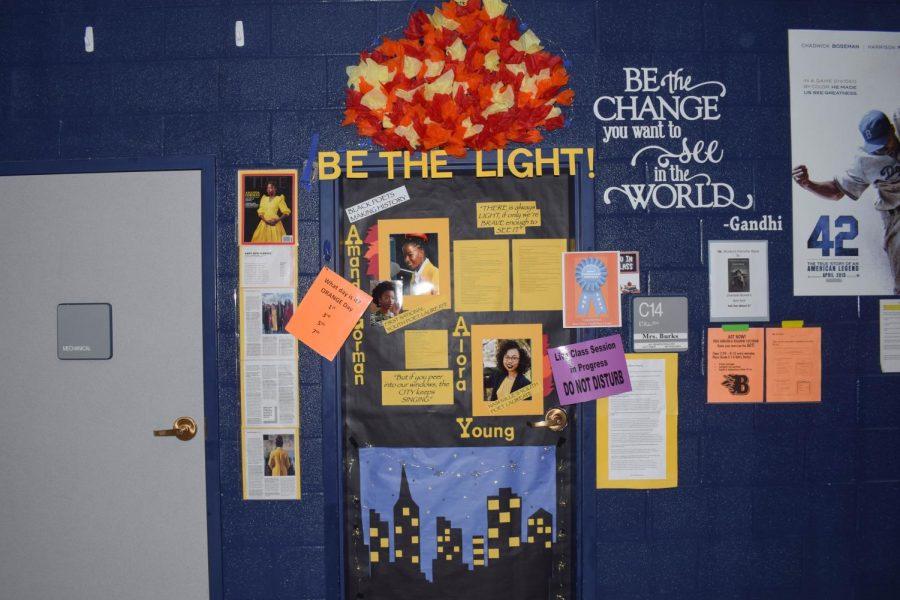 Elisa Burks' door, Black Poets Making History, won Most Curriculum-Centered.