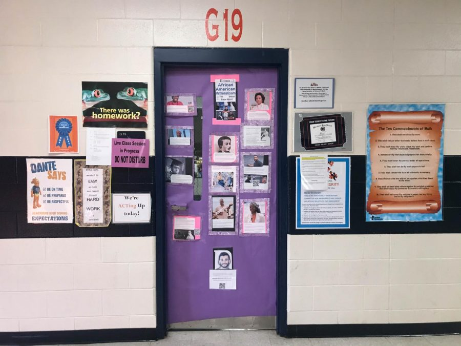 Diane Webb's door, Eleven Famous African American Mathematicians You Should Know, won Best Use of Technology.