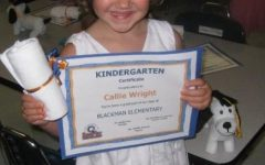 Callie Wright, Kindergarten