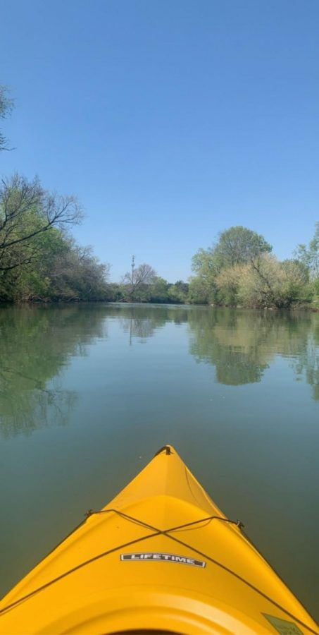 During the spring and summer, kayaking is a great outside activity.