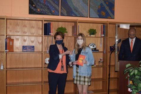 Olivia Suggs wins the Honors English II award.