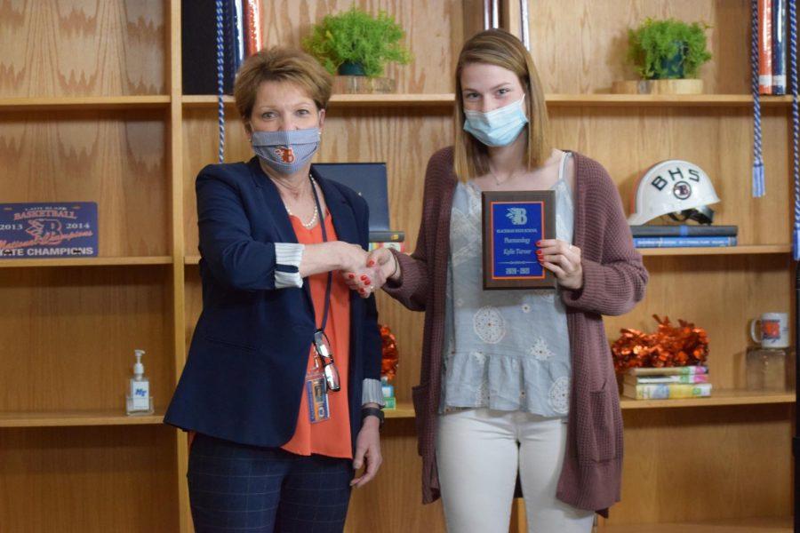 Kylie Turner won the Pharmacology award.