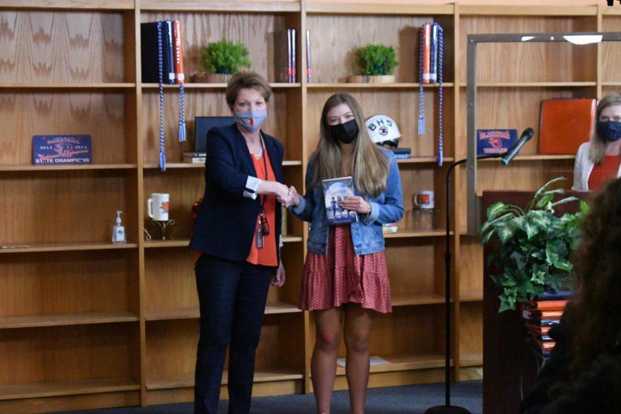 Cason Collins won the AP Calculus AB award and a Valedictorian award.