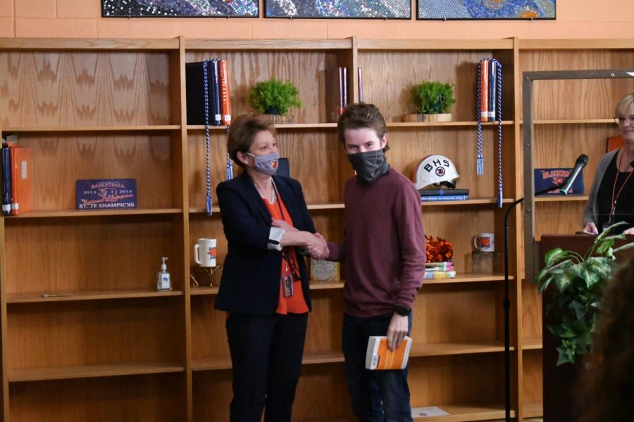 Nathan Edwards won an AP Physics C award.