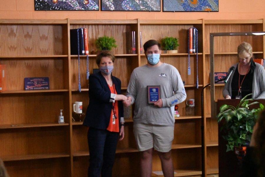 Austin Duggin won the Honors French III award.