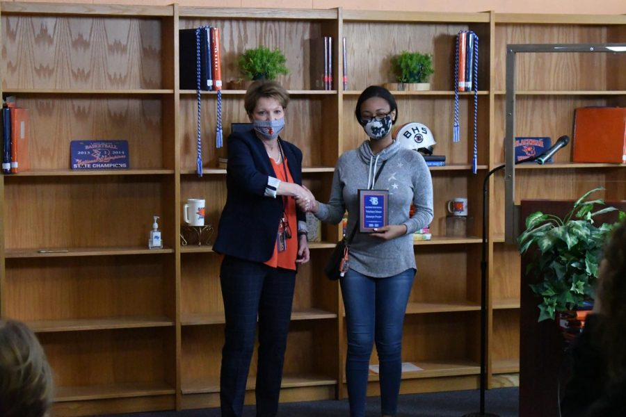 Kamaryn Frazier won the Veterinary Science award.