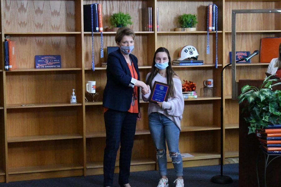 Natalie Bryson won a Valedictorian award.