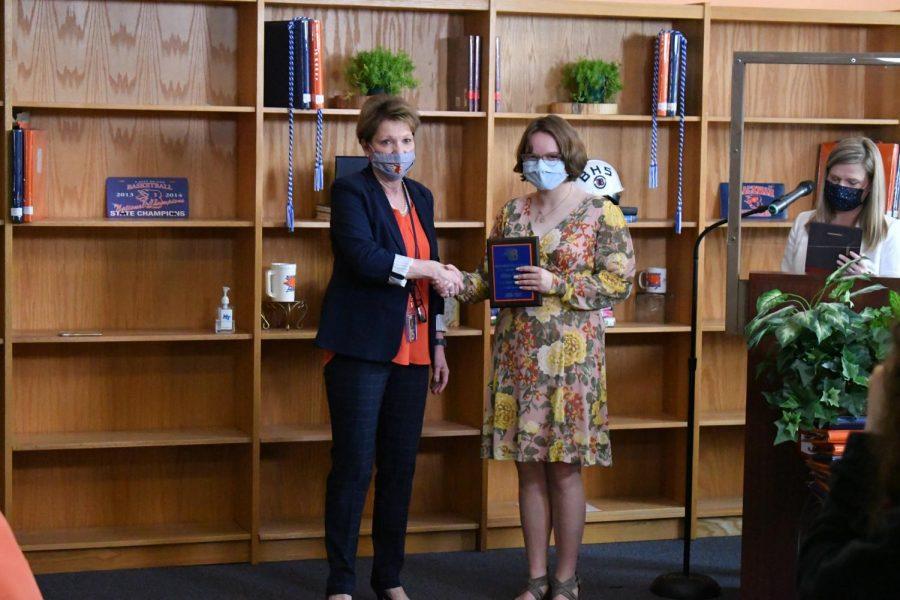 Allison DeHart won the Valedictorian and AP Government awards.