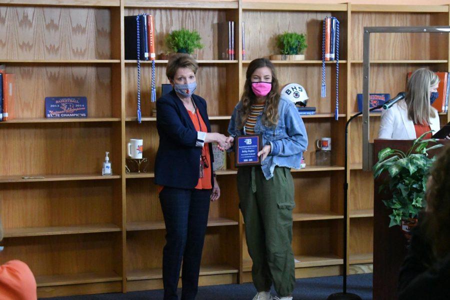 Bailey Hughes received a Valedictorian award.