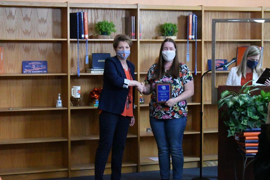 Rebecca May won a Valedictorian award.