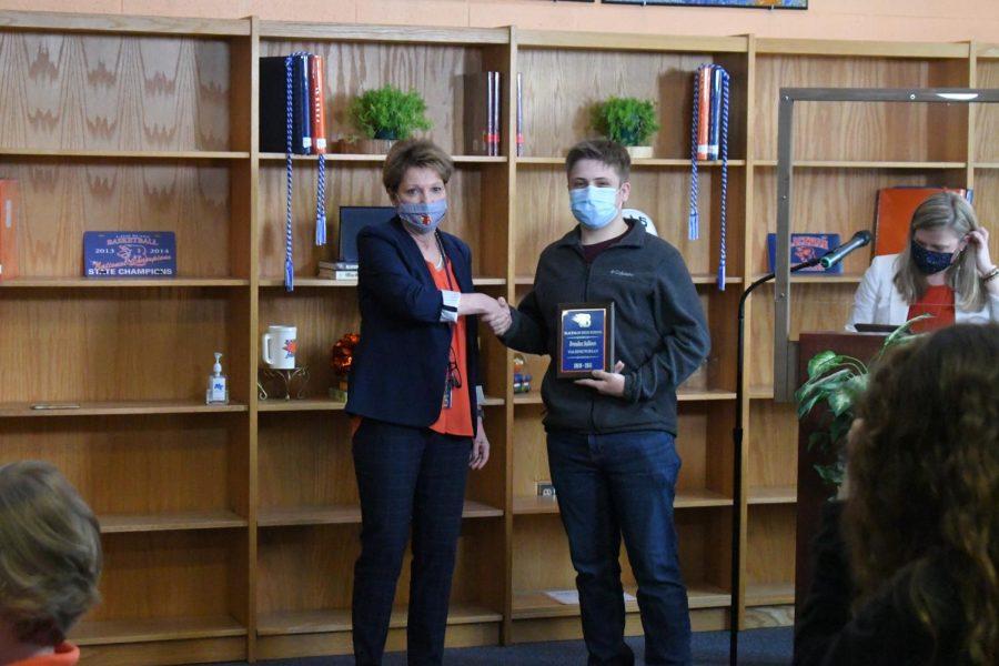 Brendan Sullivan won a Valedictorian award.