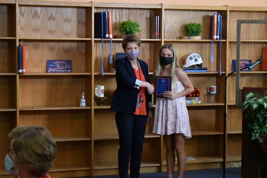 Natalie Tripp won the Honors Ecology and Valedictorian awards.