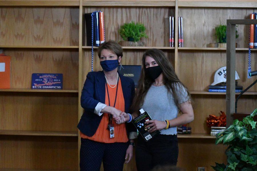 Sarah Kinderdine won the award for Honors Chemistry.