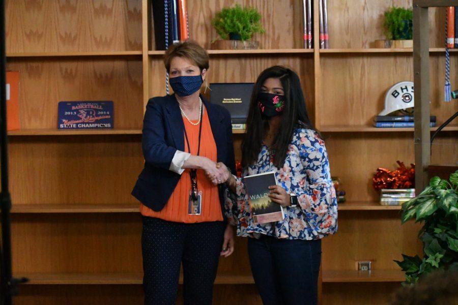 Esha Patel won the award for AP English III.