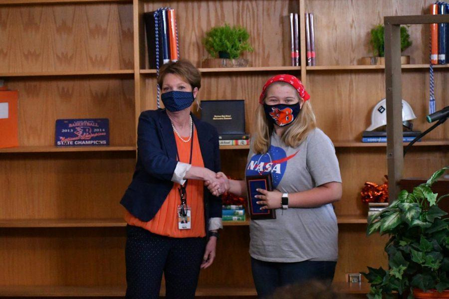 Erin Seifert won the Outstanding Theatre Student award.