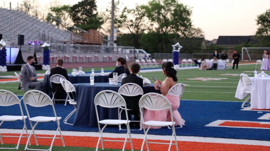 Formal seating was provided for attendants.