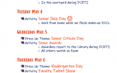 This week's senior schedule
